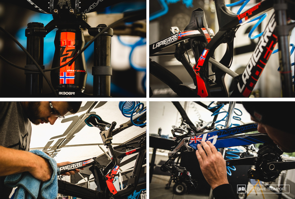 Each Lapierre rider received a custom sticker job for World Champs.