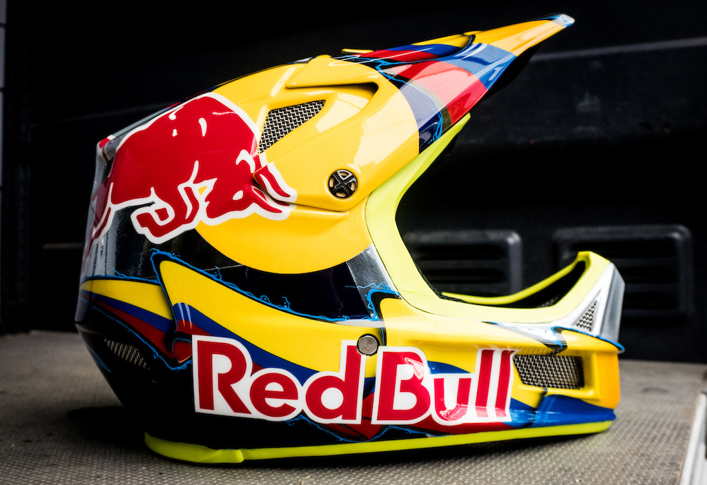 Marcello got a special World Champs helmet.