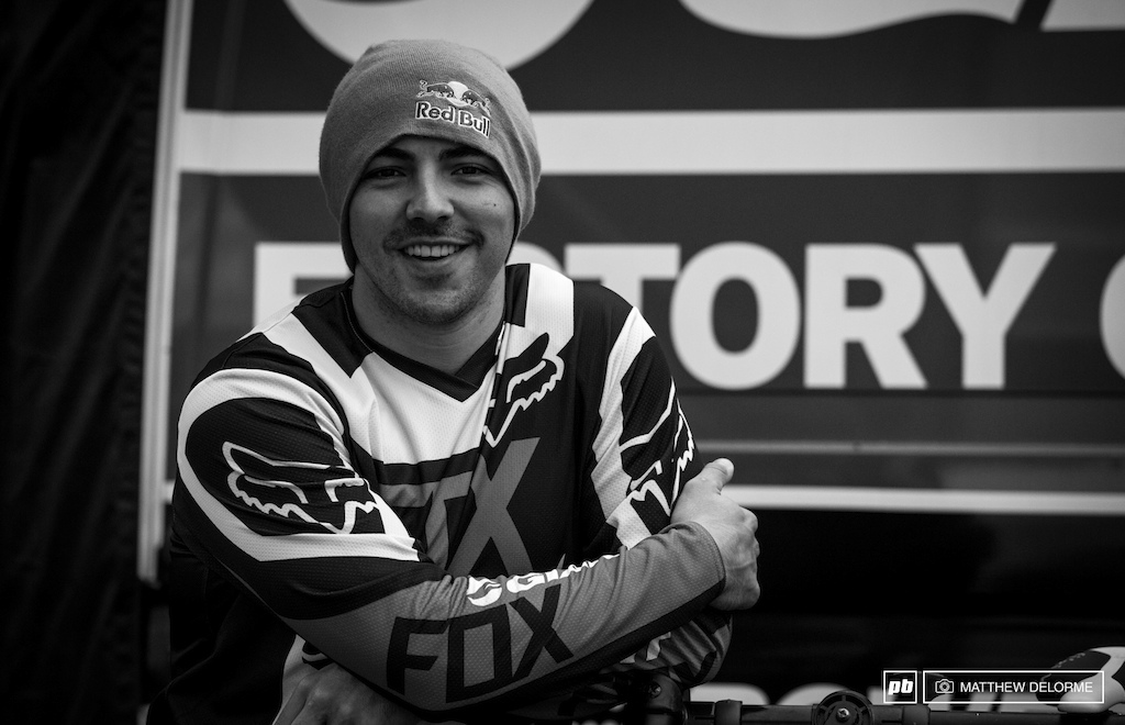 Marcello was all smiles before practice today.