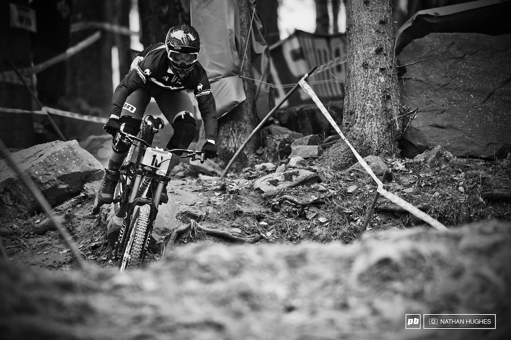 The round 4 Leogang winner Amaury Pierron stomped third place in the seeding today for team France and was in fact on the same second as Vernon. A French junior on the podium certainly looks imminent.