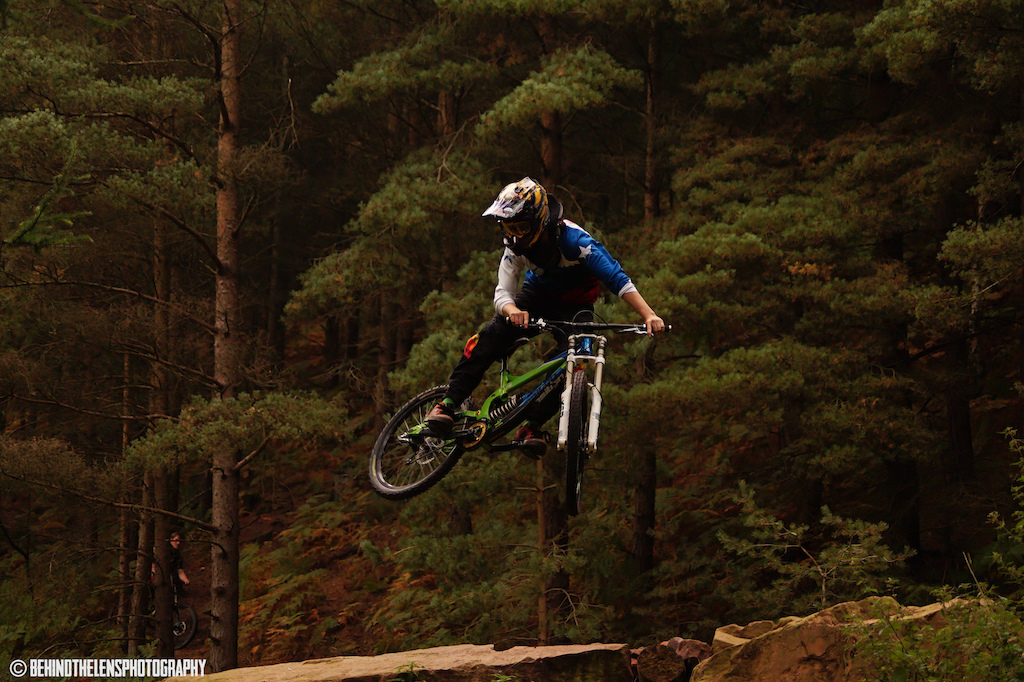 Getting sideways over the boulders