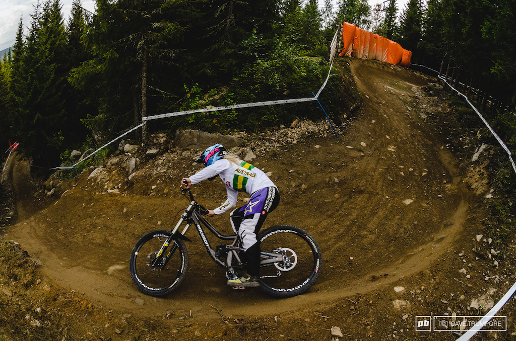 Tracy Hannah was caught off guard by a crash in the rocks today but a second look at the result sheet will show she was within a second of the fastest time at split 1.