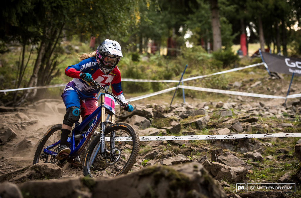 Rachel Atherton was fastest in timed training and she might find a a bit more out on track tomorrow.