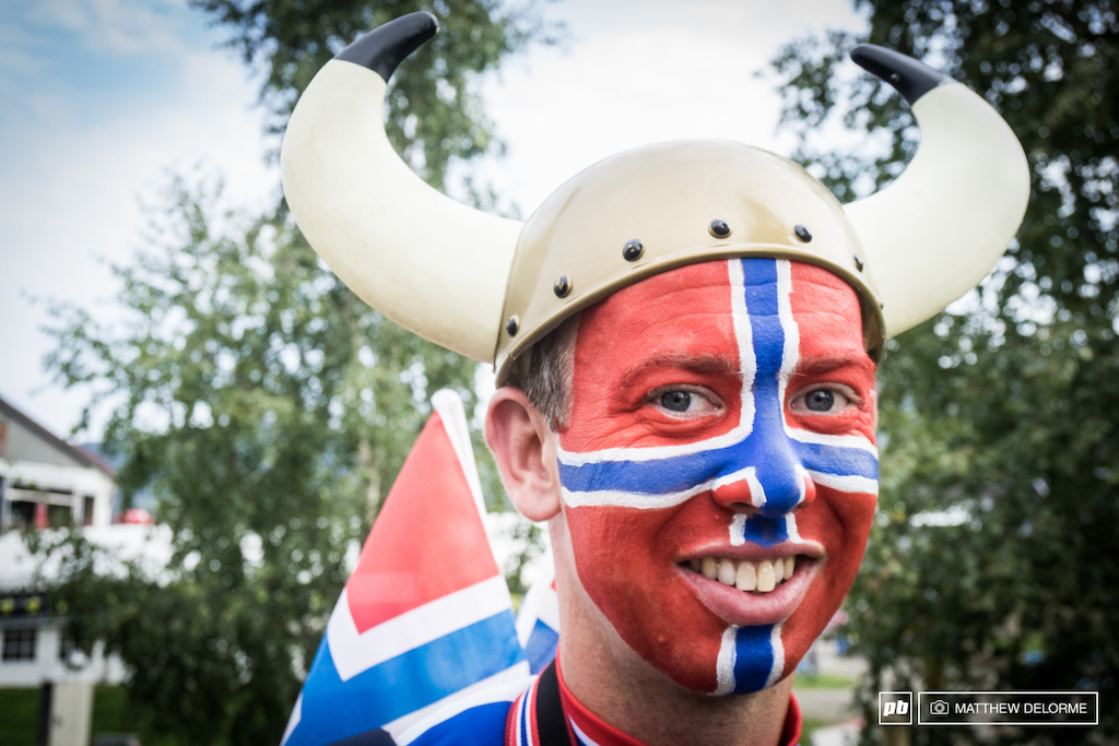 The vikings were out in force to cheer on their country men and women.