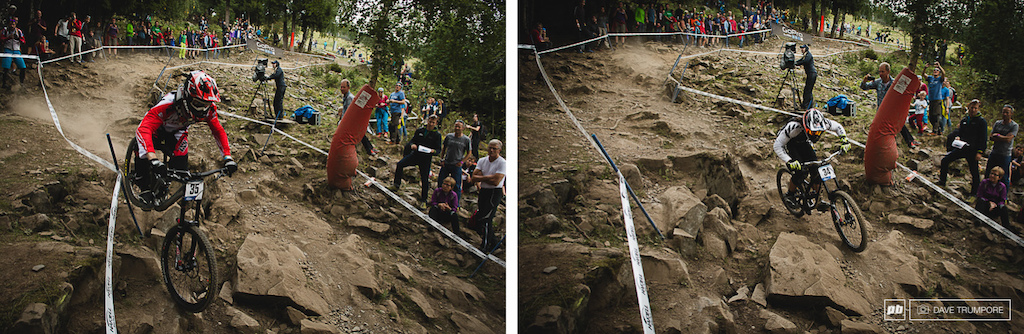 Different line options through the rocks kept riders on their toes.