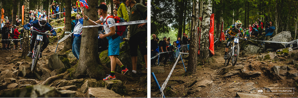 Top contenders Loic Bruni and Greg Minnaar were just off the pace today.