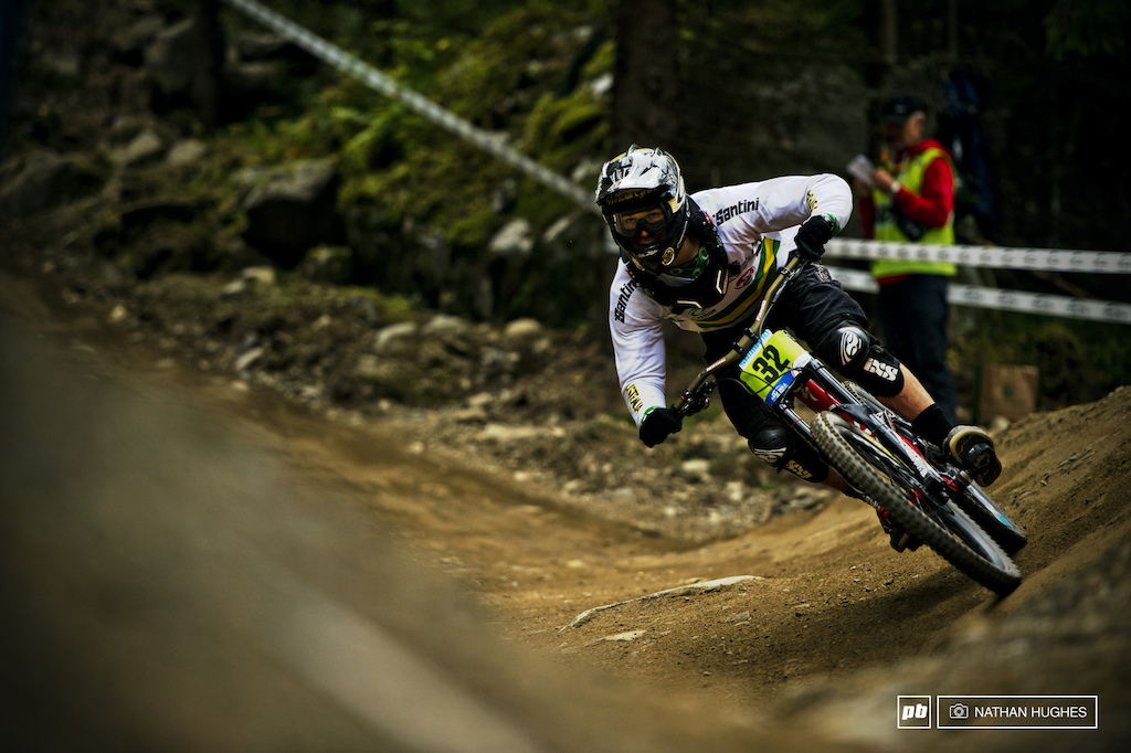 Aussie junior Max Warshawsky pinning the outside berm option on his way to a 4th place finish on Norwiegen dirt.
