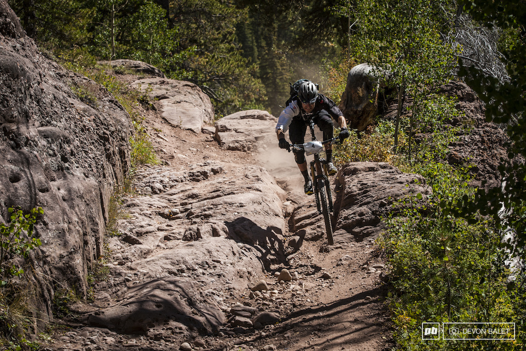 Jeremy Horgan-Kobelski gets loose on the lower section of Trail 400. JHK finished the day in 7th.