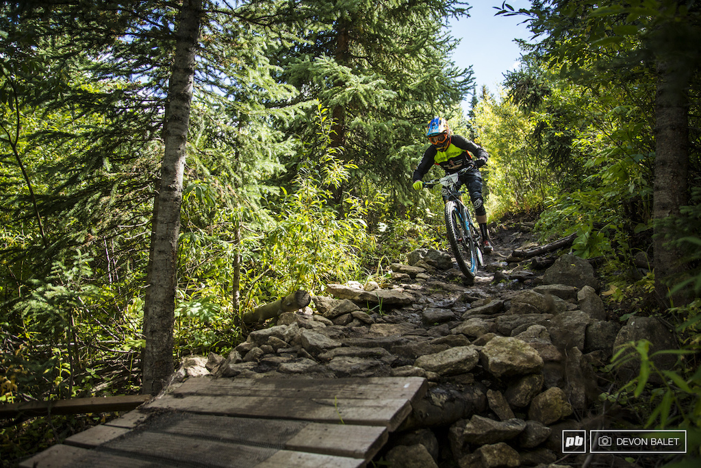 Young gun Cody Kelley smashes through another rock garden on Avery Trail. He finished the day in an honorable 12th place.