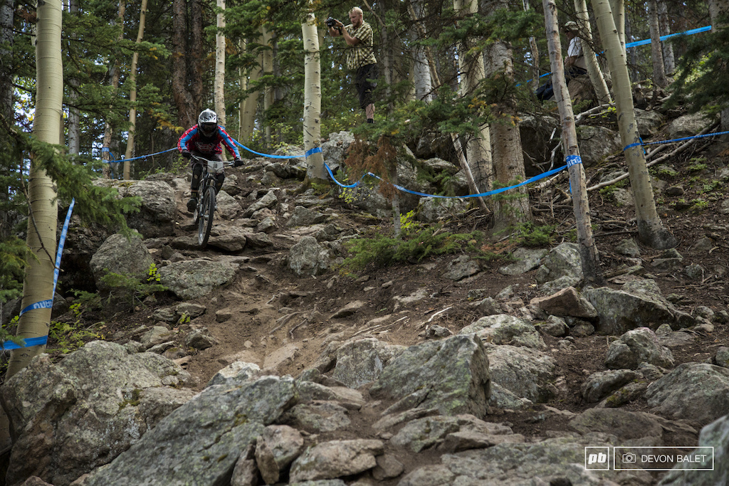 Hats off to this man Timothy Moore. Timothy raced all week long on a Reeb hardtail.