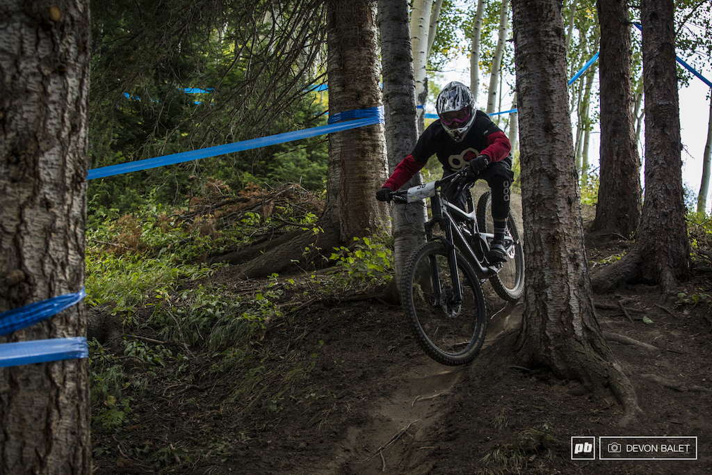 Janae Pritchett keeps it smooth and fast through the lower section of the brand new trail Captain Jacks.