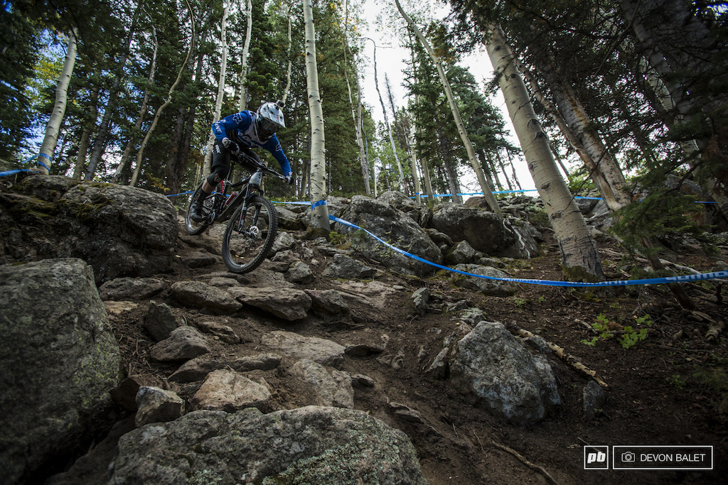 Josh Carlson skills shined on the final day of racing at Evolution Bike Park. He took the win on the day by less than two tenths of a second over Marco Osborne.