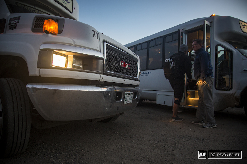 Local buses were put into service to shuttle racers for three days to the start of the day and bringing them home after a long day on the bike.