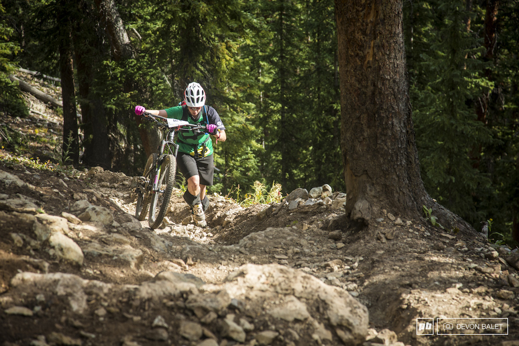 If you aren t hiking you aren t mountain biking That seems to be the case if you are riding in Crested Butte. Kristen Naber hikes it out to the start of Roaring Judy Trail.