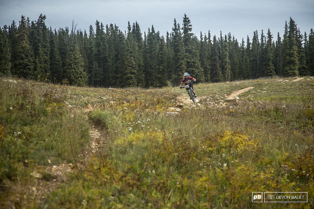Tim Poppe of Crested Butte keeps it low and fast on the opening of stage one of day two.