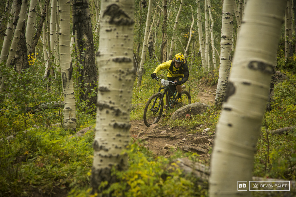 Alex Petitdemange keeps it loose through the rocky section of Doctors Park. Petitdemange had a great week of racing holding a consistent top ten finish.