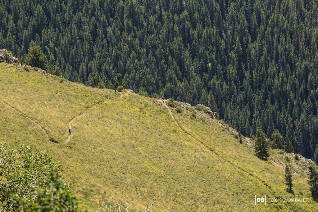 Nothing like a high speed switchbacking trail on the edge of cliff