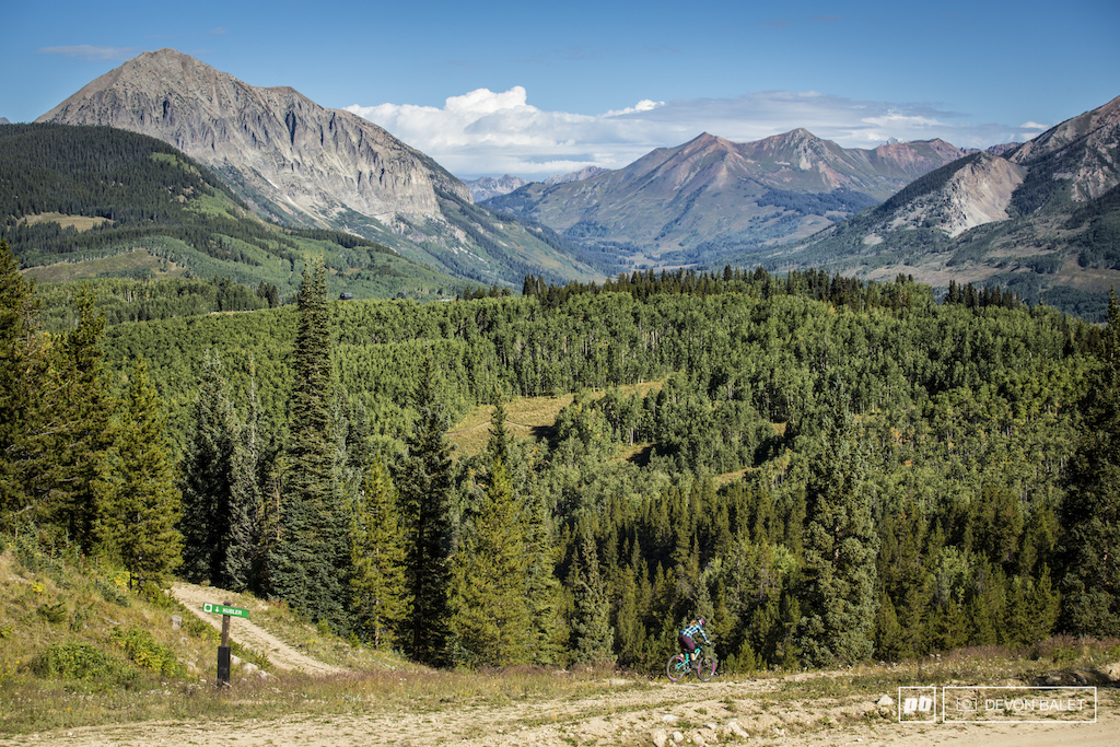 This is truly big mountain enduro racing here in Crested Butte