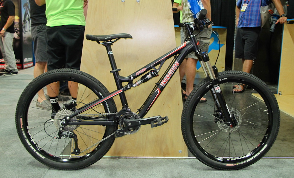 """While it may look like your average adult trail bike, the Ripcord from Transition Bikes is a 24"""" dually for all the micro trail assassins out there. Expect to see the final parts kit sporting RockShox suspension front and rear, a SRAM drive train, a Race Face cockpit and hydraulic brakes. While the spec is likely to change a bit by the time this little rocket hits bike shops, you can expect your son or daughter to be asking you to part with $1699 USD for their own fully capable trail bike."""