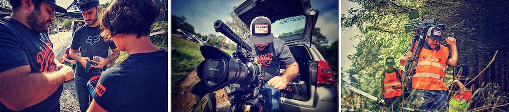 Pinkbike Productions crew. Image Chris Davison