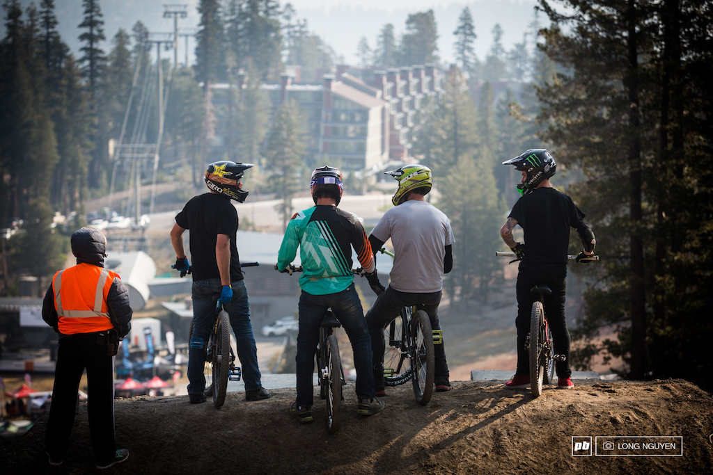 Riders getting ready to drop in for COLDCOCK Speed amp Style practice.