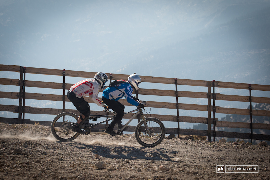 Would you ride tandem down the fastest downhill course in the world