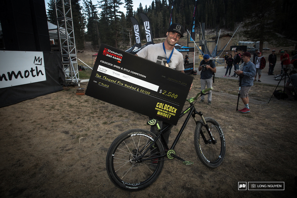 Josh Holt was pretty excited to take home the COLDCOK Speed amp Style win.