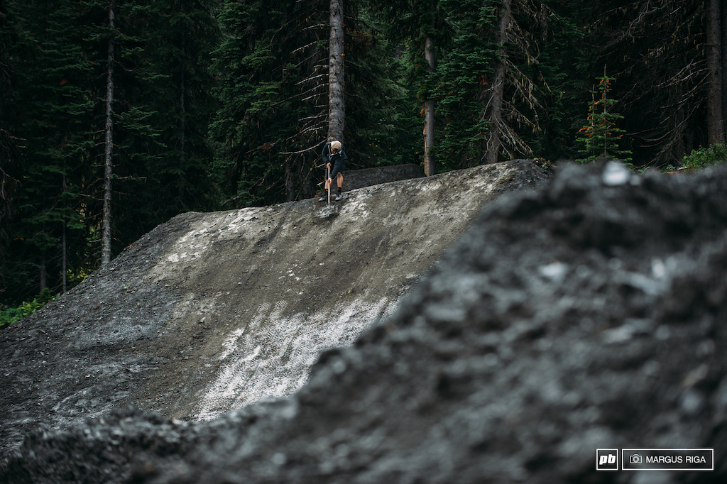 Andreu Lacondeguy was the last guy to leave the dirt jumps on this particular evening. A good indication that he was 101 committed to this.