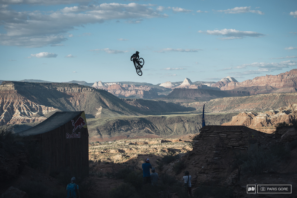 Tom Van Steenbergen was the first to guniea pig the canyon gap and hit it nearly perfect.