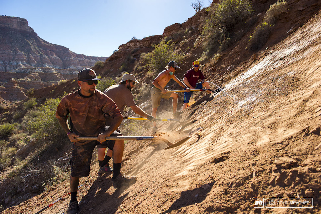 It s not just the riders that make the Red Bull Rampage what it is rather it s the diggers.