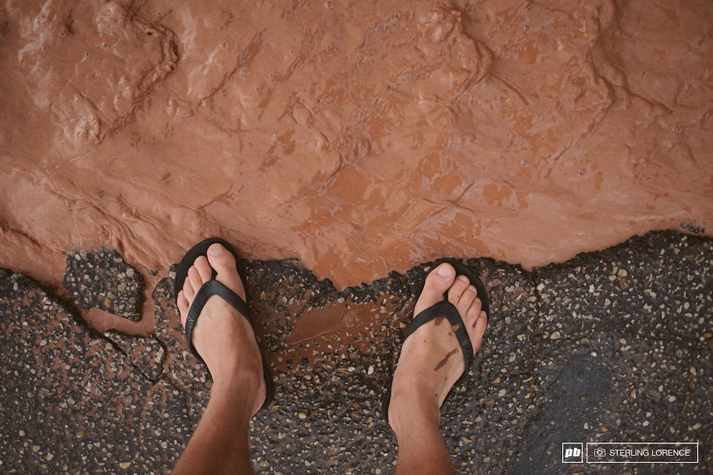 the rain out day at RedBull Rampage 2014.