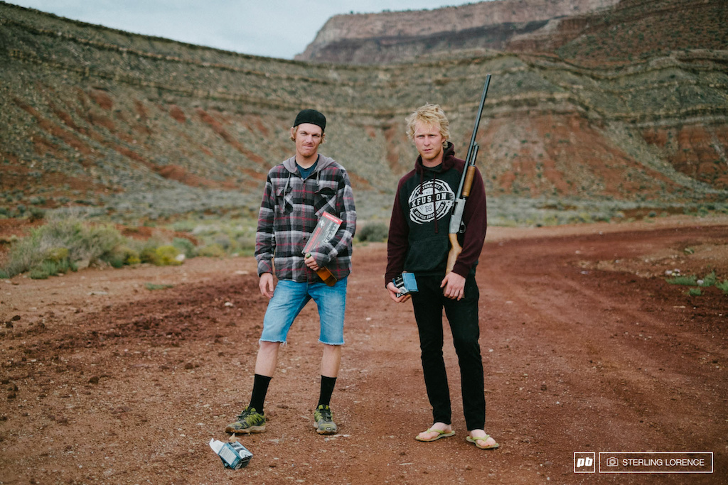 Bernard Kerr and Taylor being locals on the rain out day at RedBull Rampage 2014.