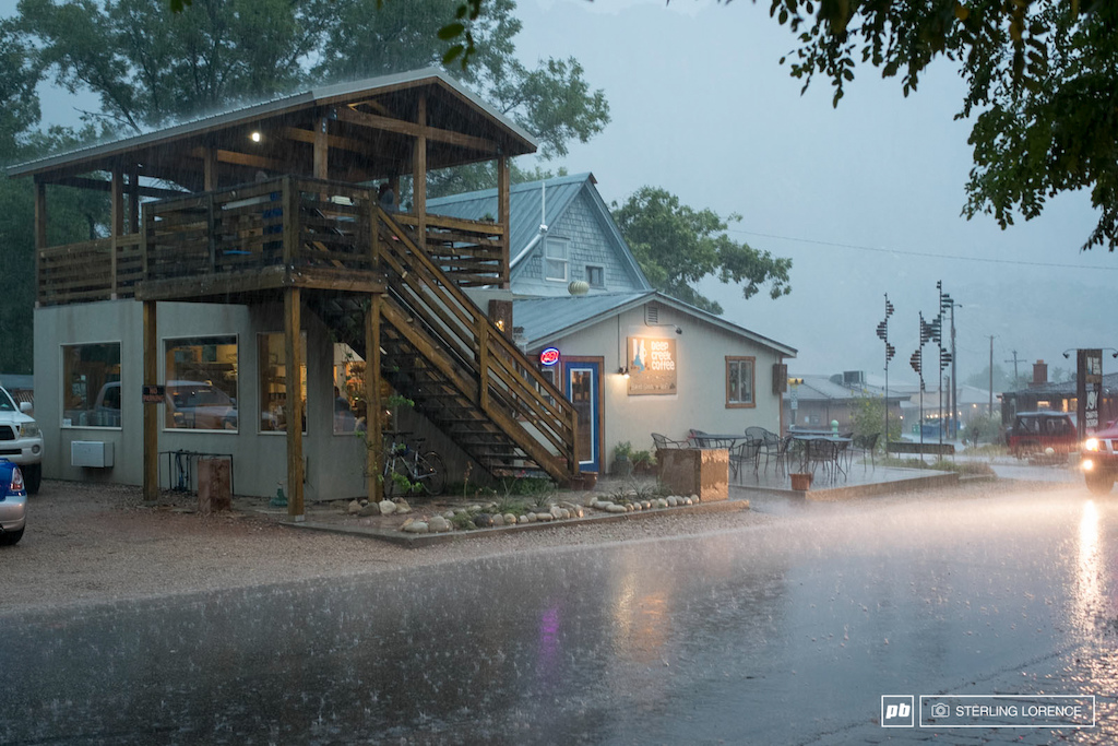 downtown springdale this morning on the rain out day at RedBull Rampage 2014.