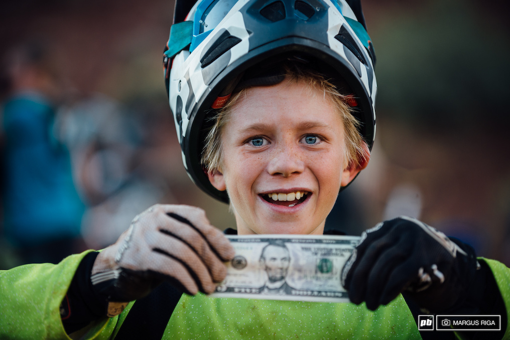 Andrew Bird eleven years old from Utah. Winning five bucks for a bad-ass no-hander.