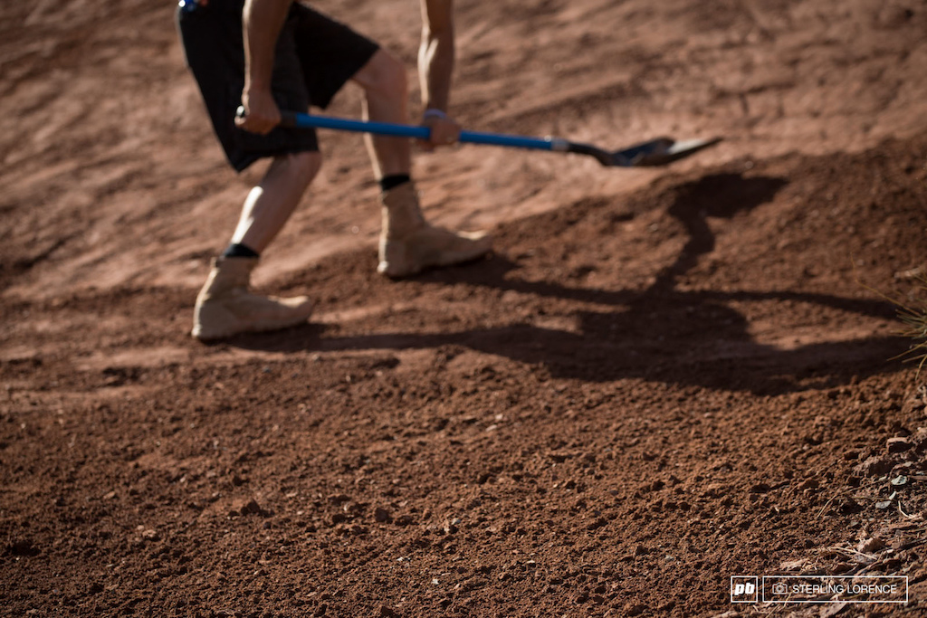 the dirt is amazing after all the rain at RedBull Rampage 2014.