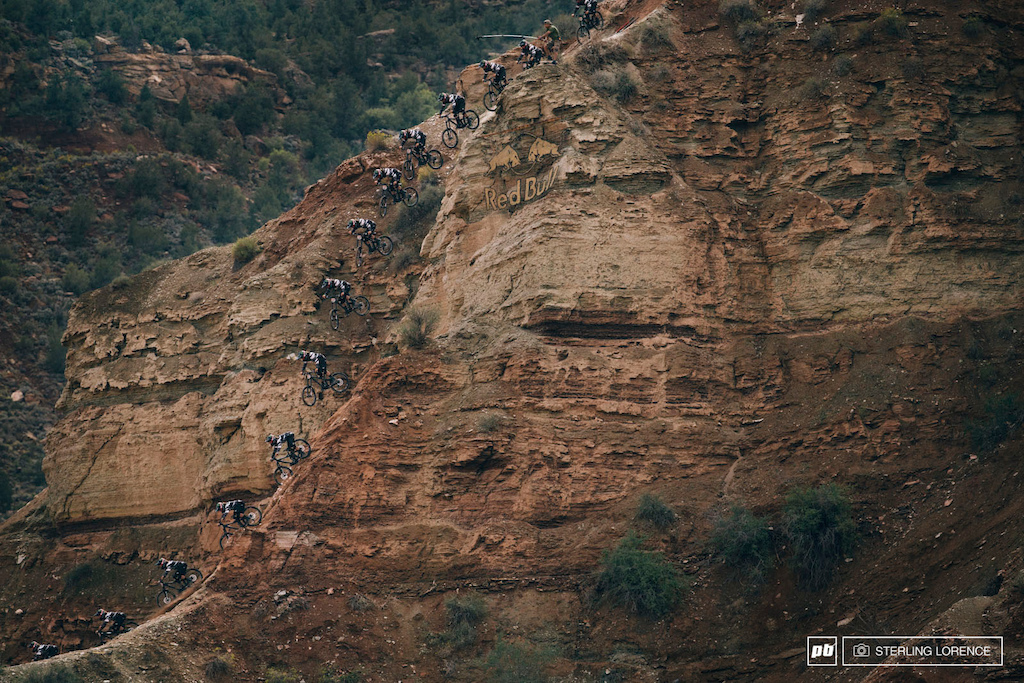 Graham Agassiz s huge cliff drop sequence at RedBull Rampage 2014.