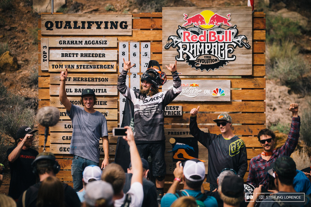 Qualifier podium at RedBull Rampage 2014.