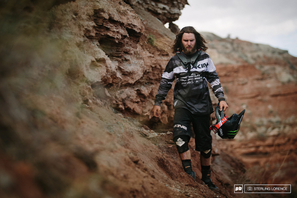Aggy the warrior at RedBull Rampage 2014.