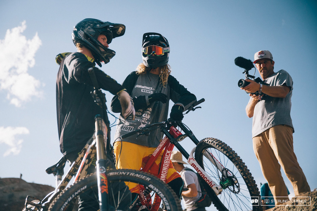mcgarry and vansteenbergen at RedBull Rampage 2014.