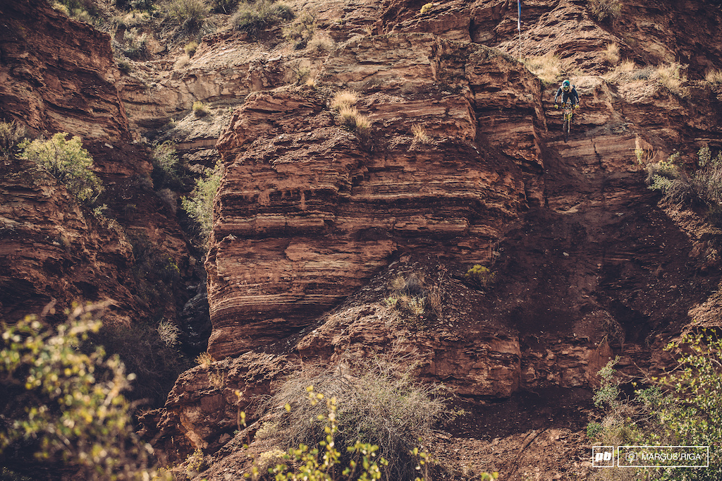 Bernard Kerr is new to Rampage and also new to big mountain riding. Bernards s roots are in racing and his line was a good example of that...Fast and pretty much straight down the mountain.