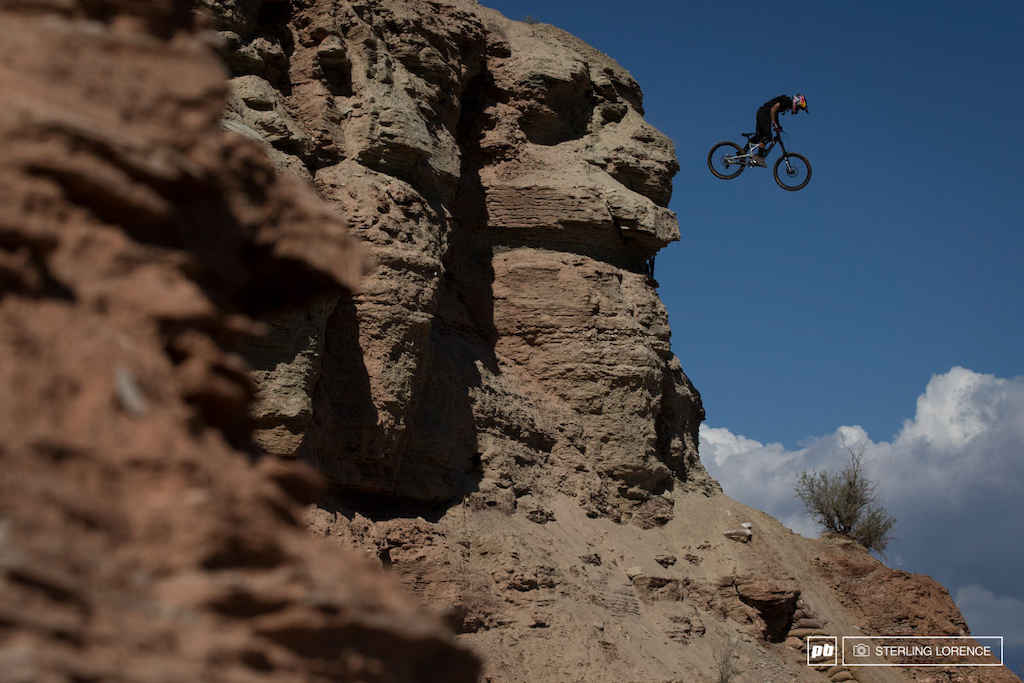 Andreu Lacondeguy drops into his finals run at RedBull Rampage 2014.