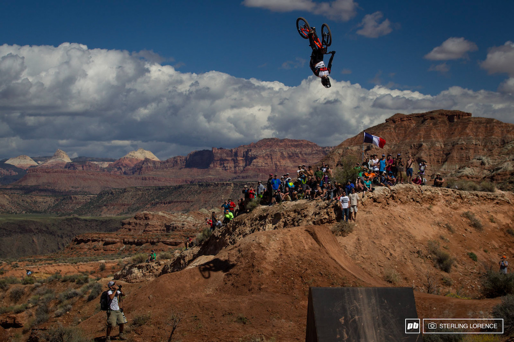 Brett Rheeder backflip at RedBull Rampage 2014.