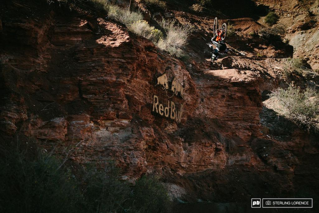 Brett Rheeder backflip at RedBull Rampage 2014.