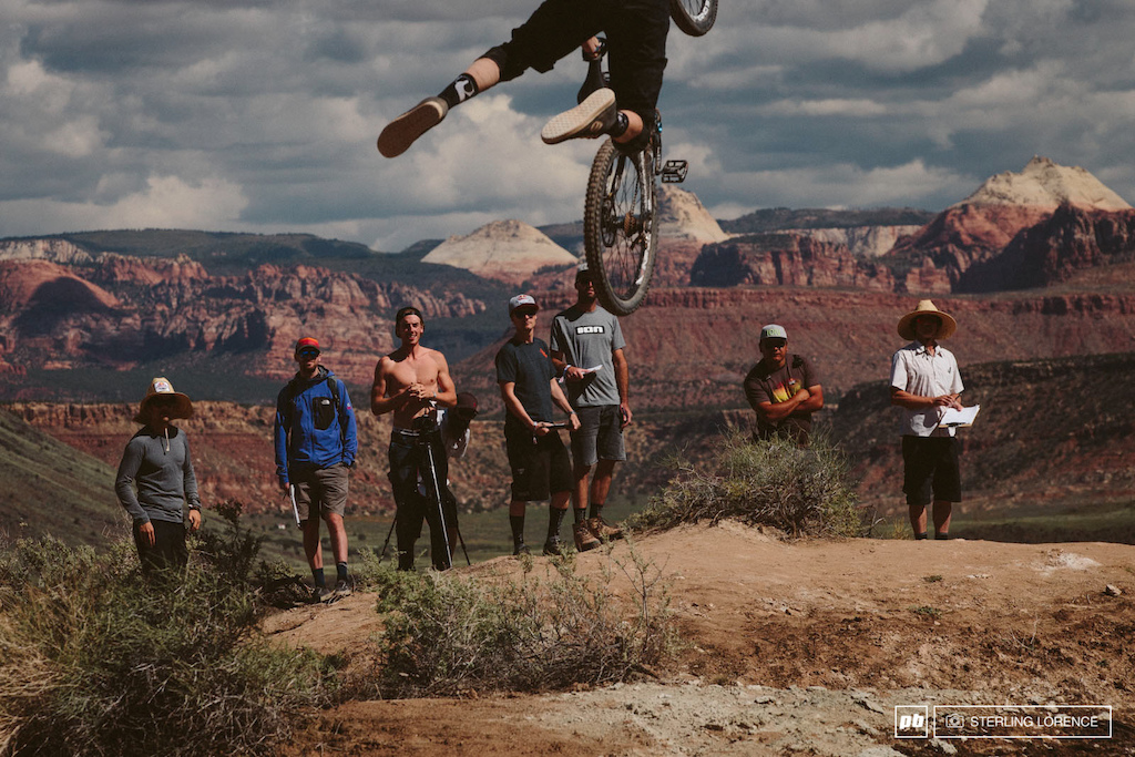 judges ridge and tomas genon at RedBull Rampage 2014.