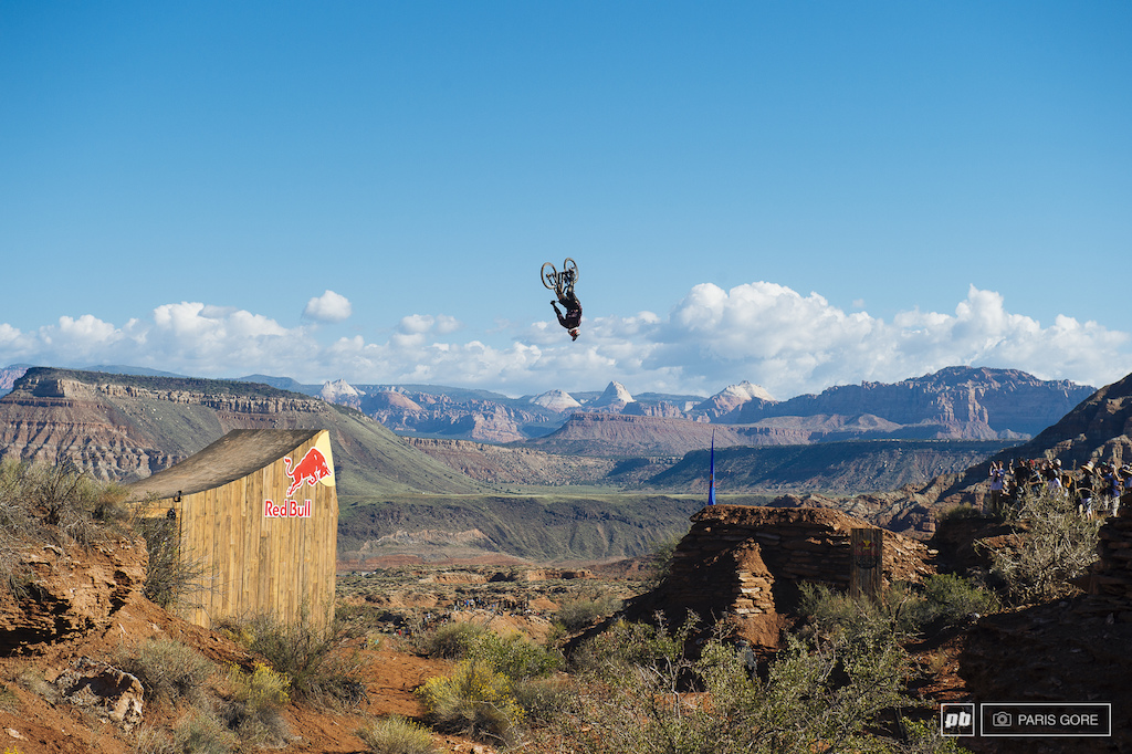 Herb back flip on the canyon gap.