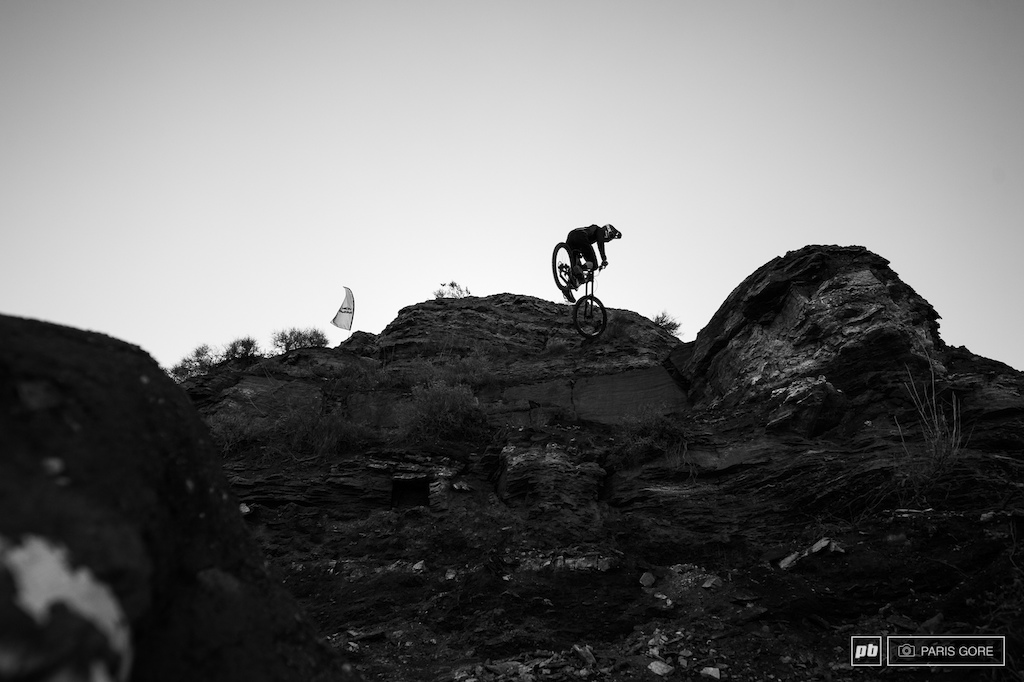 Norbs 360 off a drop that him and Semenuk built.
