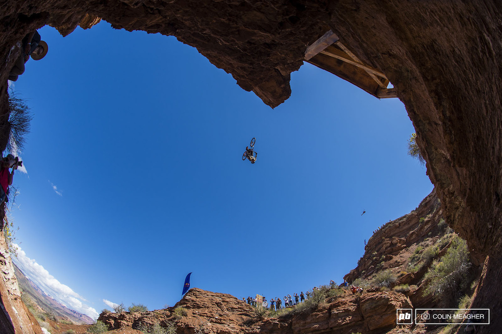 McGazza on his back flip attempt across the canyon gap. Like Raboul things didn t quite go as planned for the big Kiwi with a case on the knuckle ending his bid for the podium.