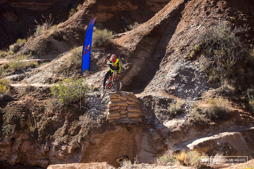 Brendawg throwing some style off the first of his two canyon gaps.