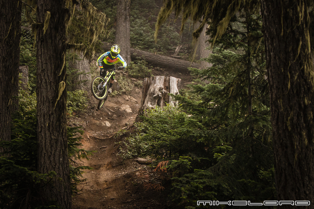 Bryson Martin Jr. boosting the natural features in Whistler