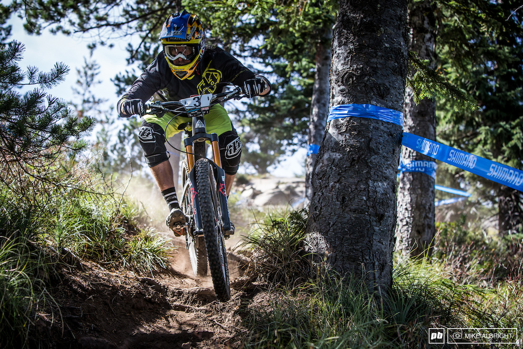 Craig Harvey from Big Bear country was looking comfortable on the upper section of stage 5